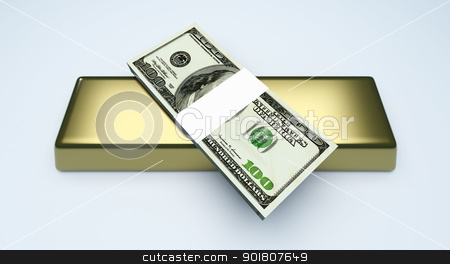 Commodities and Cash stock photo, Commodities and cash investments. 3D rendered Illustration.  by Michael Osterrieder