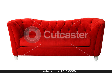 Red furniture isolated  stock photo, A red furniture isolated with clipping path  by kongsky