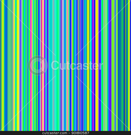 Seamless bight green and blue bold color stripes abstract background. stock photo, Seamless bight green and blue bold color stripes abstract background. by Stephen Rees