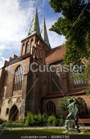 Nikolaikirche (Church of St. Nicholas) - Berlin stock photo, A view of Nikolaikirche (The church of St. Nicholas) -  the oldest church in Berlin. by Chris Dorney