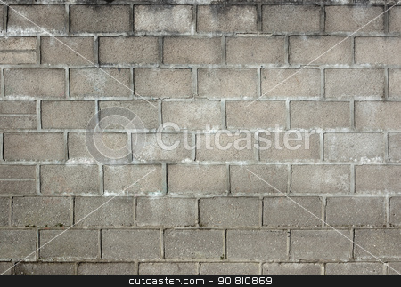 Old dirty gray breeze blocks wall background. stock photo, Old dirty gray breeze blocks wall background. by Stephen Rees