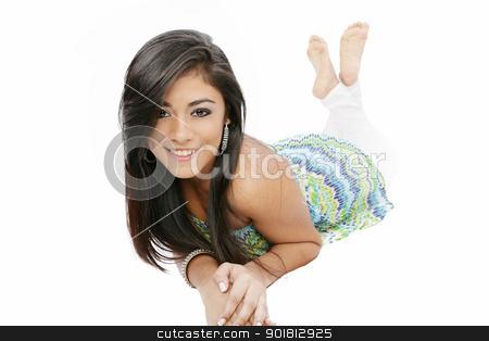 Beautiful sexy girl smiling and relaxing stock photo, Beautiful sexy girl smiling and relaxing by dacasdo