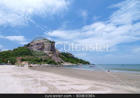 Hua Hin beach in Thailand stock photo, Landscape of Hua Hin beach in Thailand by jakgree
