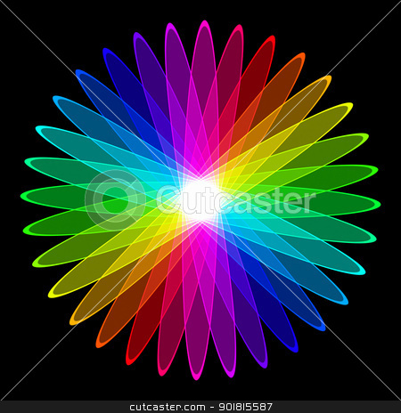colorful flower stock photo, An illustration of a nice colorful flower by Markus Gann