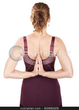 Backward Namaskar stock photo, Caucasian woman in backward namaskar or salutation pose by Scott Griessel