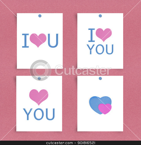 I love u Note paper stock photo, I love u Note paper by jakgree