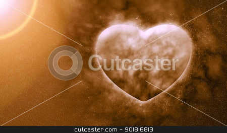 Concept ,Planet of the heart in beautiful space stock photo, Concept ,Planet of the heart in beautiful space by jakgree