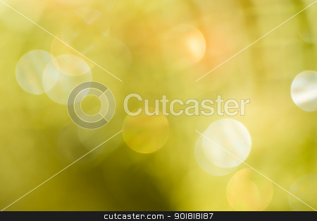 Abstract gold background with bokeh effect stock photo, Abstract gold background with bokeh effect. by Vadim