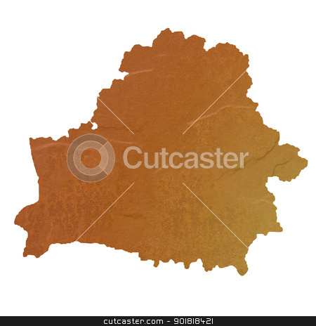 Textured map of Belarus stock photo, Textured map of Belarus map with brown rock or stone texture, isolated on white background with clipping path. by Martin Crowdy