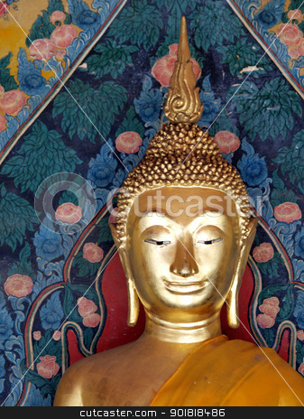 Buddha statue in Thailand stock photo, Buddha statue in Thailand by jakgree