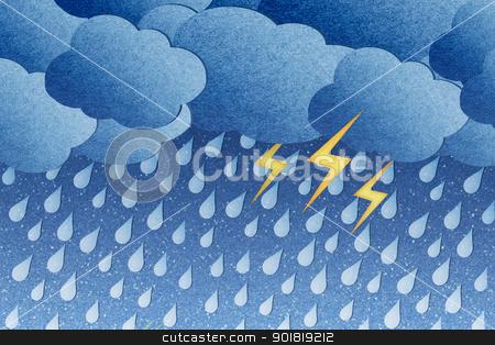 Grunge recycled paper rainy night stock photo, Grunge recycled paper rainy night by jakgree