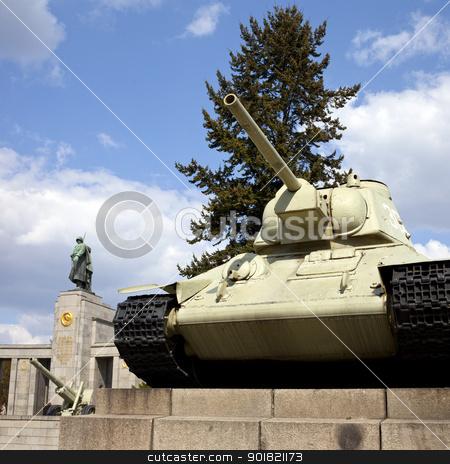 Russian War Memorial in Berlin stock photo, The Russian/Soviet War Memorial in Berlin. by Chris Dorney