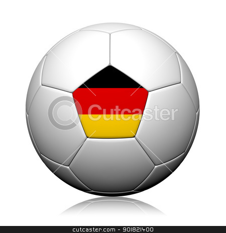 Germany Flag Pattern 3d rendering of a soccer ball stock photo, Germany Flag Pattern 3d rendering of a soccer ball by jakgree