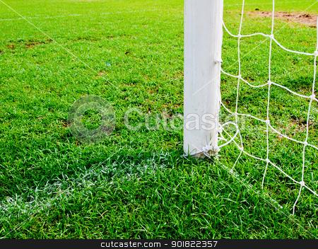 soccer goal football green grass field stock photo, soccer goal football green grass field by jakgree