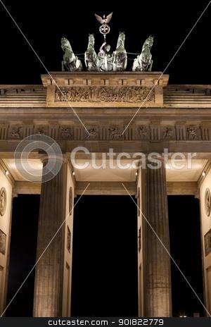 The Brandenburg Gate at Night stock photo, The Brandenburg Gate in Berlin. by Chris Dorney