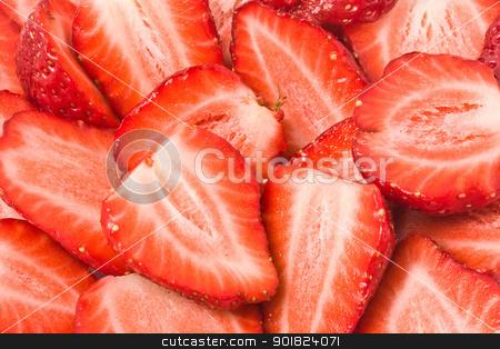 Strawberry stock photo, Fresh strawberry background by Alexey Popov