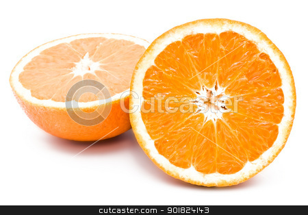 Orange stock photo, Orange isolated on white background by Alexey Popov