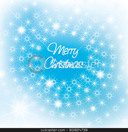 Christmas background stock photo, abstract background with snow flakes by Miroslava Hlavacova