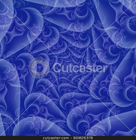 Blue and white Spiral stock photo, Digital abstract image with a spiral design in blue and white. by Colin Forrest