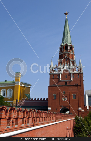 Pedestrian Entrance to the Kremlin, Moscow stock photo,  by Chris Dorney