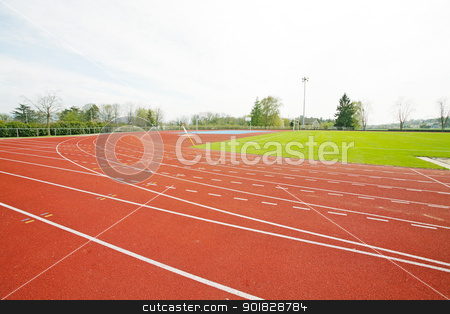 Running track  stock photo, Running track   by dacasdo