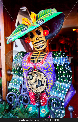 Mexican Christmas Dead Figure Decorations Old San Diego Town Cal stock photo, Mexican Christmas Dead Figure Decorations Old San Diego Town California by William Perry