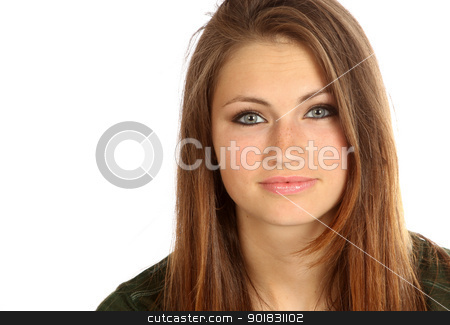 Portrait of teenage girl. stock photo, Teenager posing for the camera. by asbasb