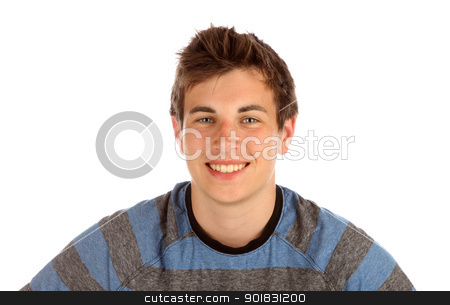 Teenage boy posing for the camera. stock photo, Teenage boy portrait. by asbasb