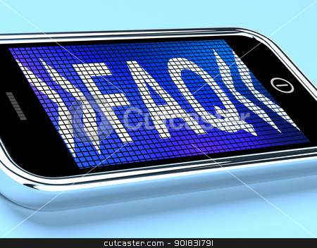 Faq Message On A Mobile Phone Shows Help stock photo, Faq Message On A Mobile Phone Showing Help by stuartmiles