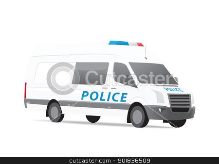 Police van 2 stock photo, Police van vector illustration by lkeskinen