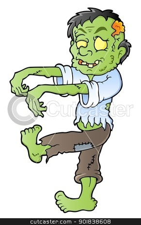 Cartoon zombie theme image 1 stock vector clipart, Cartoon zombie theme image 1 - vector illustration. by Klara Viskova