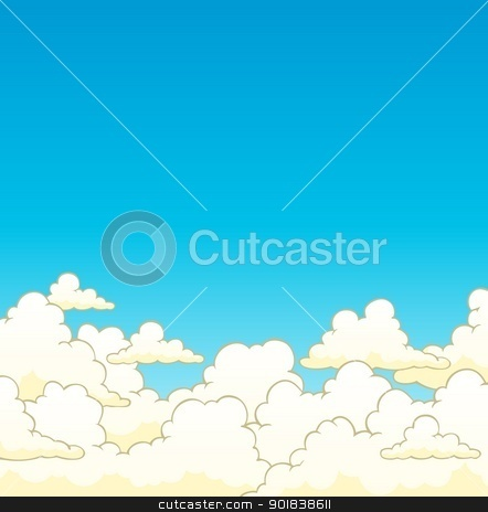 Cloudy sky background 6 stock vector clipart, Cloudy sky background 6 - vector illustration. by Klara Viskova