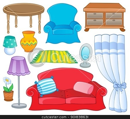 Furniture Theme Collection 1 Stock Vector