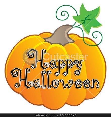 Happy Halloween topic image 2 stock vector clipart, Happy Halloween topic image 2 - vector illustration. by Klara Viskova