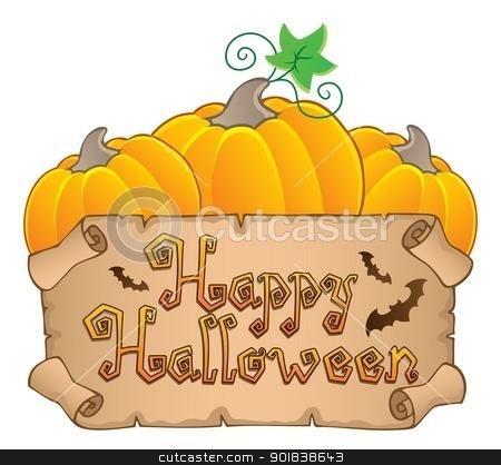 Happy Halloween topic image 3 stock vector clipart, Happy Halloween topic image 3 - vector illustration. by Klara Viskova