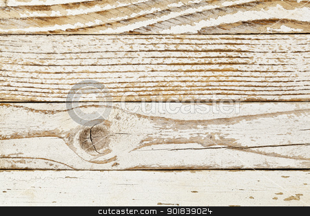 grunge white pinted wood stock photo, grunge wood background with old white painted planks, different grain patterns by Marek Uliasz