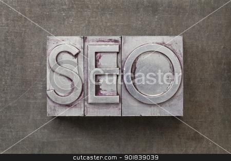 search engine optimization) -SEO stock photo, SEO (search engine optimization) acronym - text in vintage letterpress metal type against a grunge steel sheet by Marek Uliasz