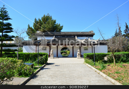 Chinese Garden stock photo, Chinese Garden in Malta by Lenise Zerafa