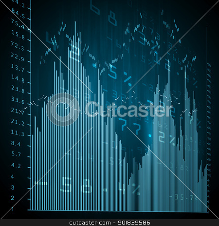 Financial charts and graphs stock photo, Colour business finance chart, diagram, bar, graphs by Sergey Nivens