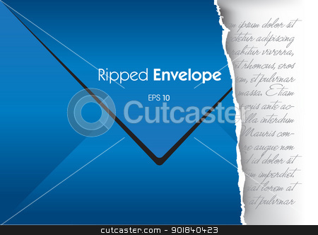 Ripped Envelope stock vector clipart, This image is a vector illustration and can be scaled to any size without loss of resolution. This image will download as a .eps file and can be edited with any vector editing software. by Bagiuiani Kostas