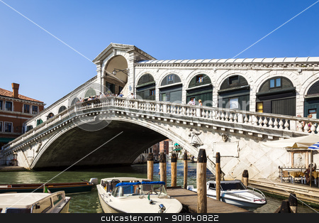 Rialto Bridge Venice stock photo, An image of the famous Rialto Bridge in Venice Italy by Markus Gann