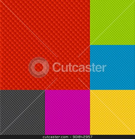 Decorative background set stock vector clipart, Decorative background set in various colors. by Richard Laschon