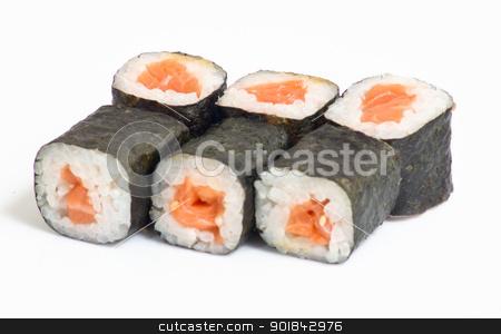 Various kinds of sushi and sashimi stock photo, Various kinds of sushi and sashimi by Evgeniy Ovchinnikov