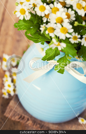 flowers in a vase stock photo, Beautiful flowers in a vase on the old table by klenova
