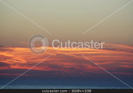 sun set stock photo, sun set over the beach by lizapixels