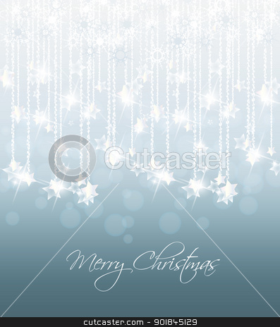Christmas background stock vector clipart, shooting stars during the Christmas and New Year by Miroslava Hlavacova