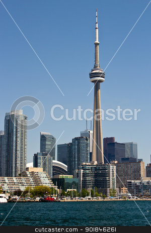 Toronto Skyline stock photo, Downtown Toronto skyline with the CN Tower. by Click Images