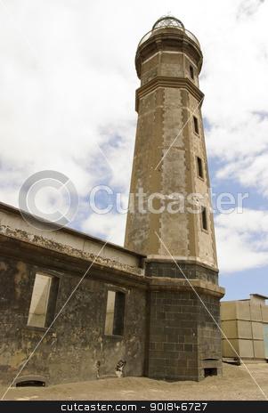 Volcano dos Capelinhos Lighthouse stock photo, Lighthouse at Volcano dos Capelinhos, Faial island, Azores by dinozzaver