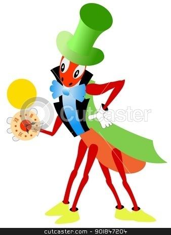 cricket stock vector clipart, Cartoon image of a fairy character cricket by Oleksandr Kovalenko