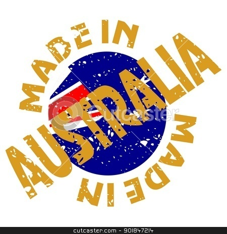 Made in Australia stock vector clipart, vector label Made in Australia by Oleksandr Kovalenko